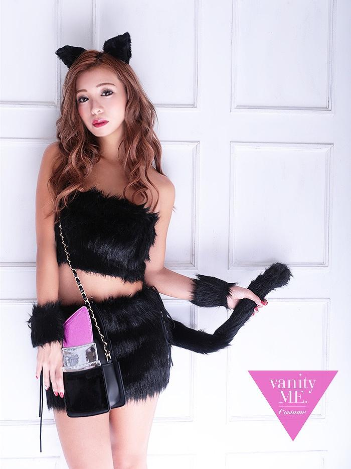 【4点セット】laVyrinth CAT. black【vanityME.オリジナルコーデ】【 コスプレ 衣装 仮装 コスチューム ハロウィン】vcsot-180401-1-mi