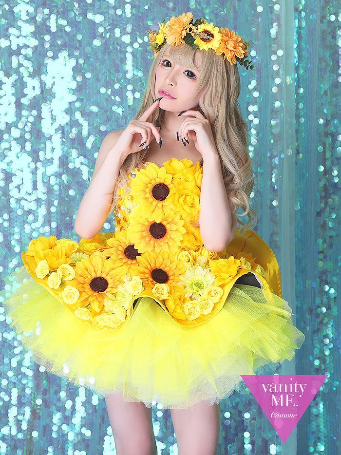 vanityME.couture HIMAWRI [イエロー]ミニドレスワンピース(フリーサイズ) vctr-0003-ki