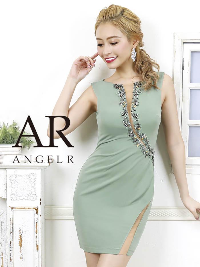 AngelR エンジェルアール カッティングデザインビジュータイトミニドレス[グリーン](S・Mサイズ) AR20303-2