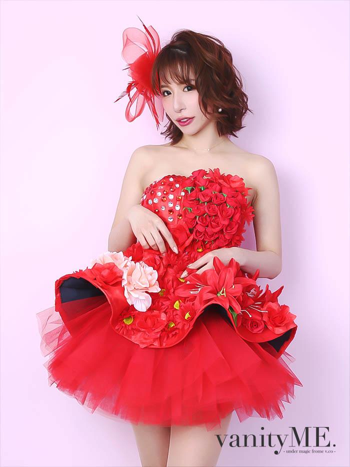vanityME.couture MADDER ROSE[レッド] ミニドレスワンピース(フリーサイズ) vctr-0001-ch