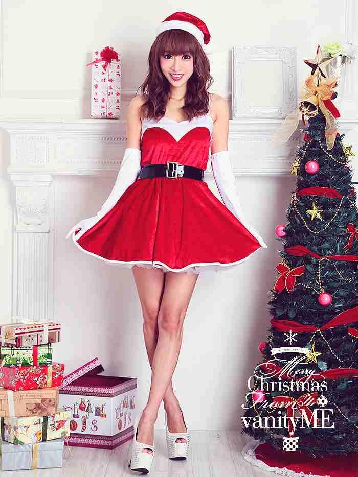 サンタ コスプレ クリスマス コスプレ vanityME. 4点セット Aラインワンピースサンタ♪ コスプレ 衣装 仮装 サンタ コスチュームvcsst-v223