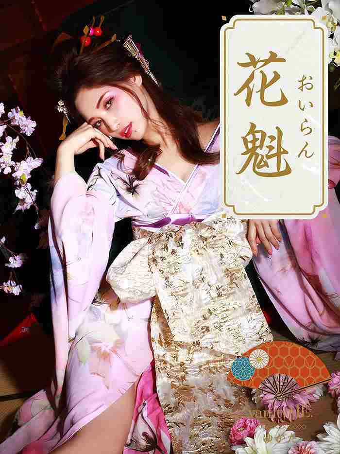 vanityME.【高級着物ドレス】浴衣 桜花魁 天女のような淡い薄ピンク 和柄 本格和装 vyt-170331-5