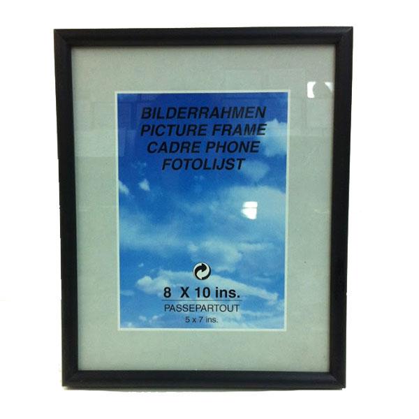 写真立て 激安価格と即納で通信販売 上質 六つ切り写真用 ブラック 六つ切 6切 フォトフレーム 8×10 額縁 壁掛け 縦 写真入れ ガラス アルミ 横