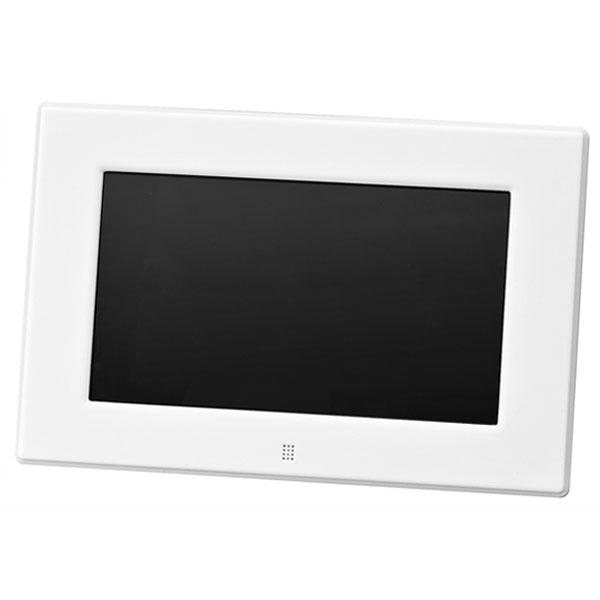 【送料無料】GREENHOUSE グリーンハウス 7インチ デジタルフォトフレーム(800×480) ホワイト GH-DF7V-WH 7型 ワイド高解像度液晶搭載
