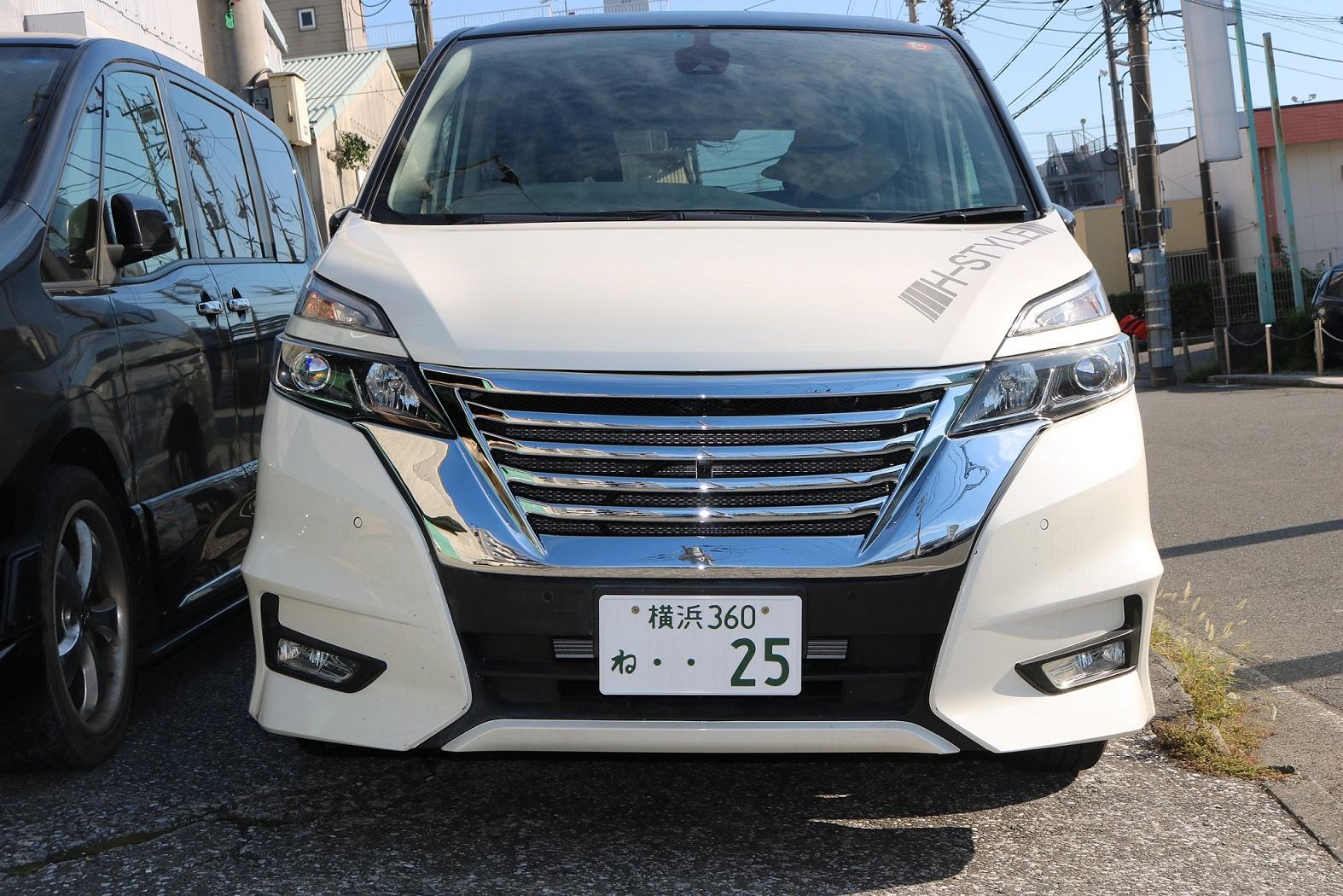 C27 セレナ Highwaystar専用!! フロントグリル(オールメッキ) VANQUISH 新型 SERANA NISSAN 日産 パーツ クローム カスタム ドレスアップ
