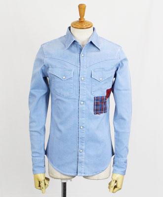 DABORO(ダボロ)デニムシャツ western denim shirts [DSH014] HARD USED