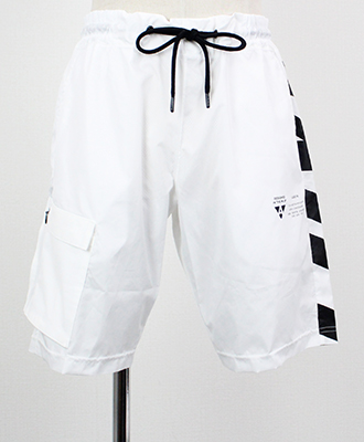 AKM(エイケイエム) AKM × BROWN BUNNY カーゴショーツ HYBRID ONE SIDE CARGO SHORT [BSL023-PE03] WHITE(10)