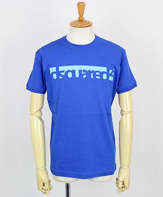 DSQUARED2(ディースクエアード) メンズ プリントTシャツ [S71GD0648] ブルー(476)