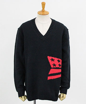 Calvin Klein(カルバンクライン) Vネックニット [J30J309560] BLACK(099)