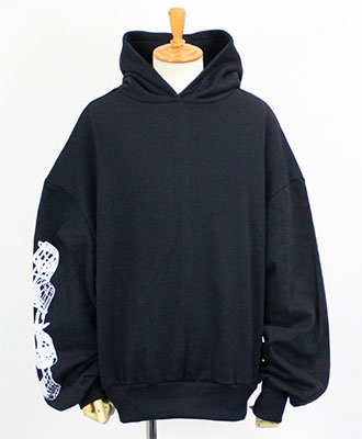 CAVIALE(カビアーレ) プルオーバーパーカー HOODIE WITH BACK PRINT [FWA2]BLACK