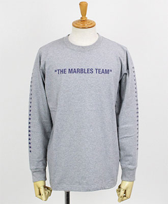 Marbles(マーブルス) プリントTシャツ L/S HEAVY TEE #THE MARBLES TEAM [MST-A1802] TOP GRAY