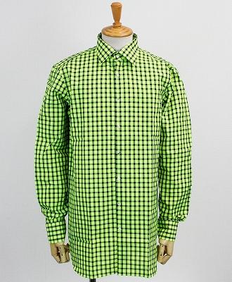 GABRIELE PASINI(ガブリエレ パシーニ) チェックシャツ [G15ITAL-GP15219] ライム(65)