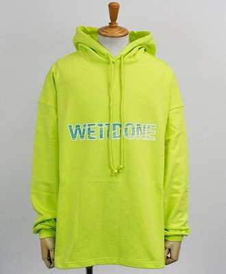 WE11DONE(ウェルダン) ロゴ パーカー LIME NEW LOGO HOODIE [WD-TP5-19-500-LM] LIME