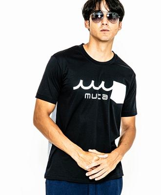 ACANTHUS×muta / アカンサス×ムータ / 半袖Uネック切替Tシャツ / ネイビー / muta back seersucker U-neck T MA2008 / NAVY