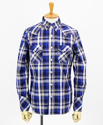 RESOUND CLOTHING / リサウンドクロージング / チェックシャツ / James OLD CHECK shirt / BLUE [RC9-SH-001]