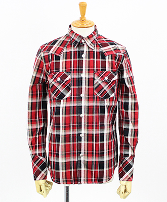 RESOUND CLOTHING / リサウンドクロージング / チェックシャツ / James OLD CHECK shirt / RED [RC9-SH-001]