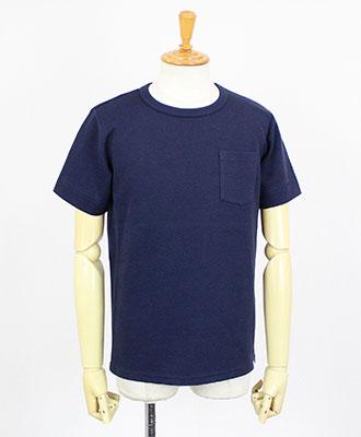 LOOK SEA / ルクシー / コットン&シルク クルーネックTシャツ / ネイビー / Cotton & Silk Crew-neck T-shirts / Navy【LSA171001TSCY93】
