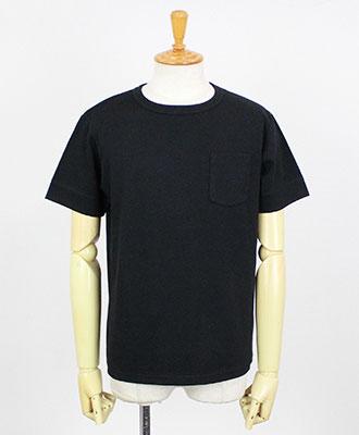 LOOK SEA / ルクシー / コットン&シルク クルーネックTシャツ / ブラック / Cotton & Silk Crew-neck T-shirts / Black【LSA171001TSCY95】