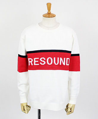RESOUND CLOTHING / リサウンドクロージング / ROGO LOOSE sweater / WHRED [RC9-K-002]