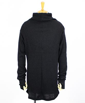 Kiryuyrik / キリュウキリュウ / RIB HIGH NECK T-SHIRT / リヴハイネックTシャツ / ブラック[KG-HT09-950-2]