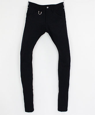 Kiryuyrik / キリュウキリュウ / Stretch Twill Curve Pants / ストレッチツイルカーブパンツ / ブラック [KG-HP24-602-1]