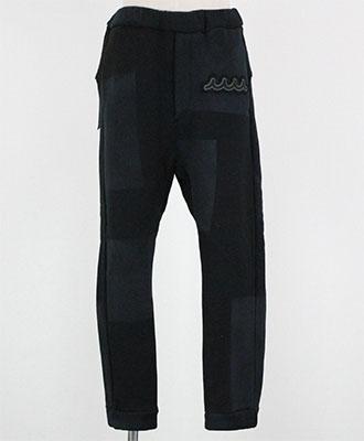 ACANTHUS×muta / アカンサス×ムータ / ジャージーイージーパンツ / ブラックパッチワーク / ACANTHUS×muta jersey easy pants MA1814