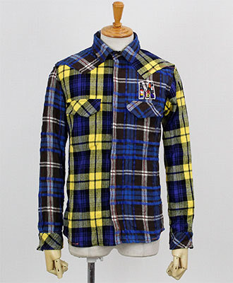 FranCisT_MOR.K.S. / フランシストモークス / 2Mix Flannel Check New Western Shirt / #84 Blue x Yellow 【MO2569】
