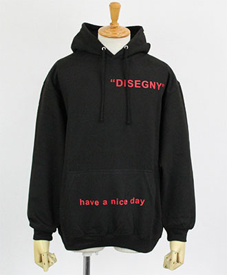 DISEGNY / ディセグニー / プリント プルオーバーパーカー / [DS1934] BLACK