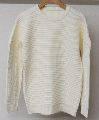 RESOUND CLOTHING / リサウンドクロージング / drop shoulder waffle rope knit / OFF[RC9-K-001]