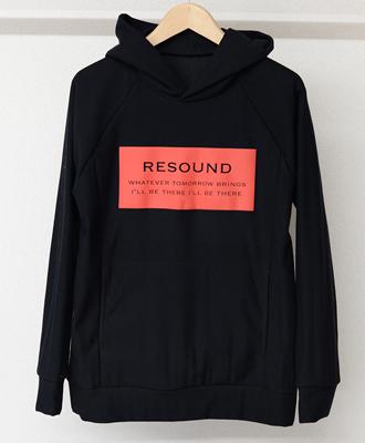 RESOUND CLOTHING / リサウンドクロージング / プルオーバーパーカー / CUPURA INLAY P/O HOODIE / BKRED[RC9-C-001]