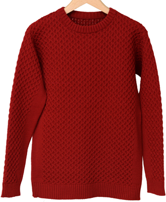 RESOUND CLOTHING / リサウンドクロージング / cable knit / RED[RC10-K-001]
