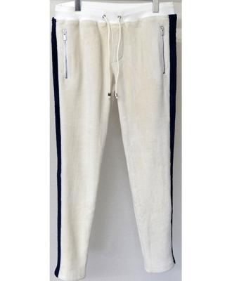 RESOUND CLOTHING / リサウンドクロージング / Velours fleece LINE PT / ベロアフリースラインスパンツ / WHITE / ホワイト[RC10-ST-013]