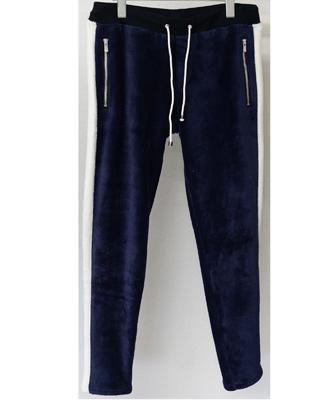 RESOUND CLOTHING / リサウンドクロージング / Velours fleece LINE PT / ベロアフリースラインスパンツ / NAVY / ネイビー[RC10-ST-013]