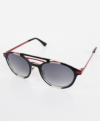 Italia Independent(イタリア インディペンデント) サングラス I-RIM NIKI BLACK AND RED STRIPES GLOSSY [0450.009.053]