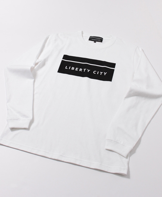 LIBERTY CITY / リバティーシティ / [BOX LOGO] LONG SLEEVE TEE / WHITE [193000LC]