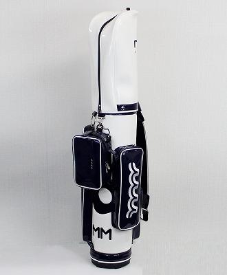 muta MARINE GOLF / ムータマリンゴルフ / muta MARINE GOLF 2020 エナメル スリム自立式キャディバッグ / ホワイト / ポーチ付 【MMBC-190703】