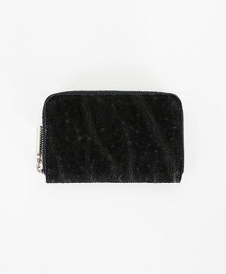LE'SAC / レザック / エレファントレザー ラウンドジップコインケース / 小銭入れ / ブラック / [8141 OIL ELEPHANT BLACK]