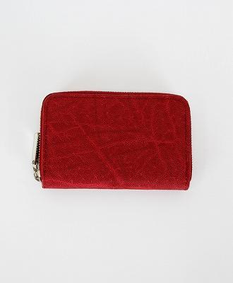 LE'SAC / レザック / エレファントレザー ラウンドジップコインケース / 小銭入れ / レッド / [8141 OIL ELEPHANT RED]
