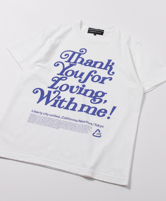 LIBERTY CITY / リバティーシティ /[PLASTIC BAG (THANK YOU) ] TEE / WHITE×BLUE