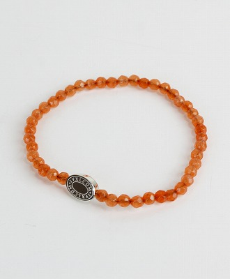 IVXLCDM(アイブイエックスエルシーディーエム) OVAL LOGO ROUND CUT BEADS BRACELET / SILVER/ORANGE JADE [IVX-A677]