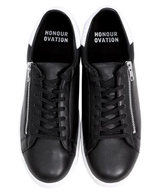 Honour Ovation / アナーオベーション / レディース/メンズ / ZIPレザースニーカー / ローカット / ブラック 【ITEM NO. 5080】 Black