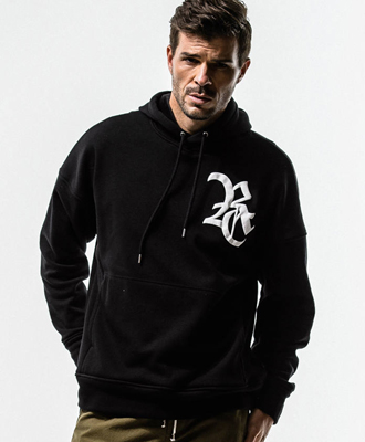 RESOUND CLOTHING / リサウンドクロージング / Boa fleece loose hoodie / BLACK [RC14-C-002]