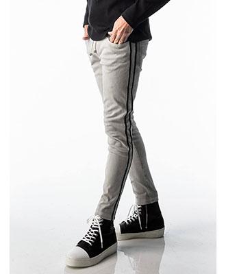 RESOUND CLOTHING / リサウンドクロージング / EX denim jersey line PT / GREY [RC17-ST-008D]