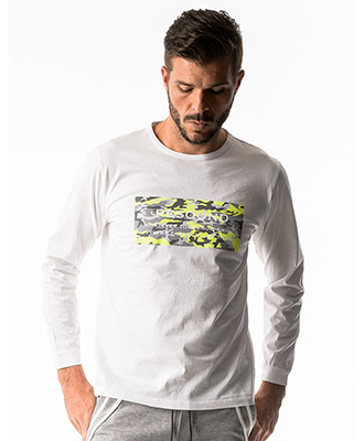 RESOUND CLOTHING / リサウンドクロージング / CAMOUFLAGE BOX ROGO LONG TEE / WH LIME [RC17-T-002]