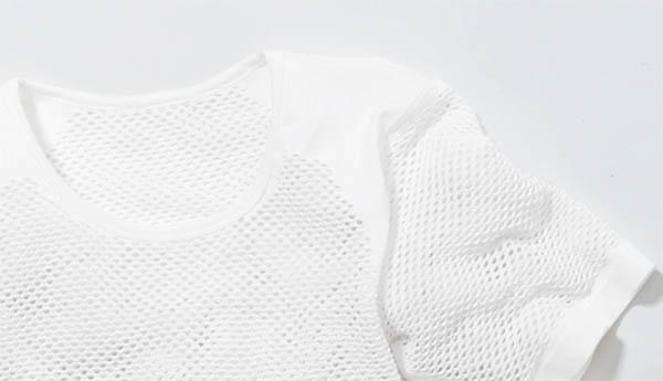 身體排斥水 ! 幹網布短袖子 t 襯衫 (8055) 聚丙烯網,網片淨襯衫汗預防感冒 (登山、 體育)