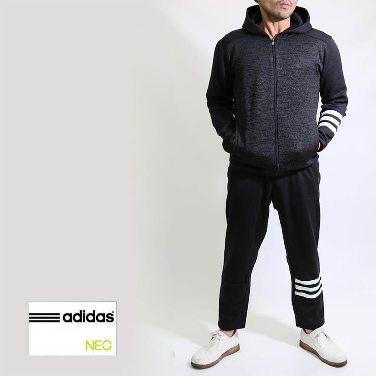 秋冬 adidas アディダス メンズ ニットフリース上下組み 上下セット DUP91DUP86 セットアップ