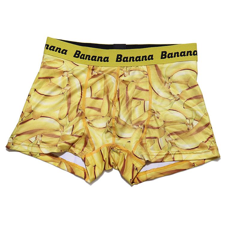 毎日楽しく快適に ボクサーパンツ cuw バナナ柄 ボクサーパンツ ボクサーブリーフ 前とじ 可愛い ギフト プレゼント 男性用 メンズインナー ボクサー