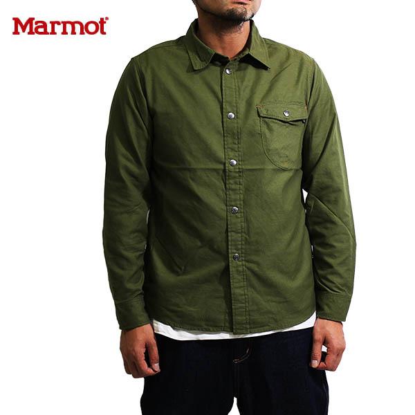 送料無料)Marmot(マーモット)カトートラムワークシャツMJS-F6102(Marmot×KATO`)KHK カーキ