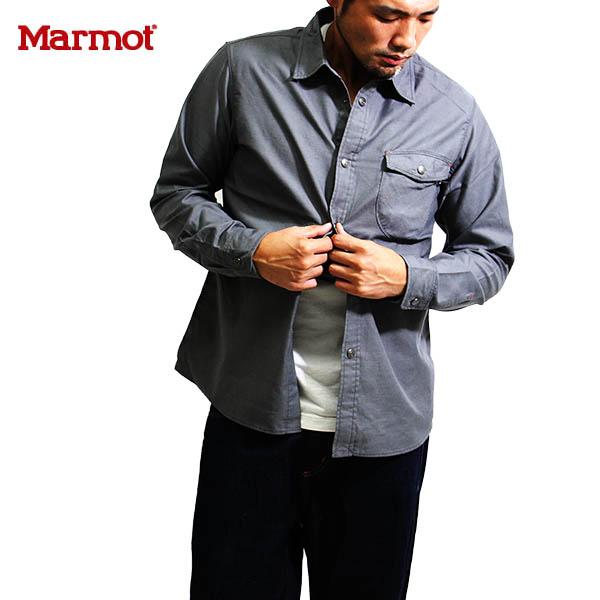 送料無料)Marmot(マーモット)カトートラムワークシャツMJS-F6102(Marmot×KATO`)SIN シンダー