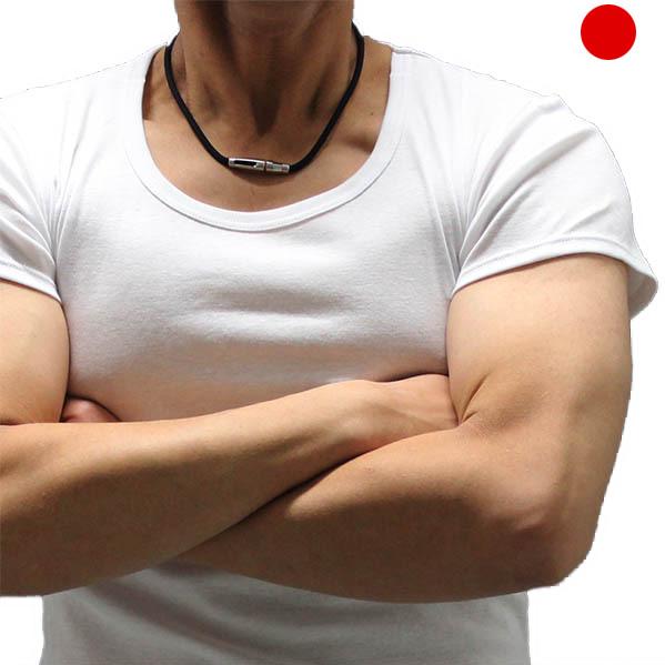 国産ベーシック肌着 日本製フライス編み肌着)半袖UネックTシャツ オールシーズン用メンズ下着(白 ホワイト)綿100%裾長め3017